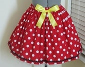 Minnie Mouse Skirt with a sexy yellow bow - Birthday Party