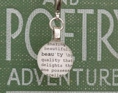 Beauty Dictionary Charm for Bookmark Keychain Necklace Bracelet by Kristin Victoria Designs