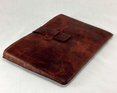 """Genuine Leather Sleeve Case Cover for MacBook Air 11"""" or 13"""" Laptop in Crazy Horse Dark Brown"""