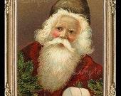 Vintage Christmas Santa Miniature Dollhouse Art Picture 1655