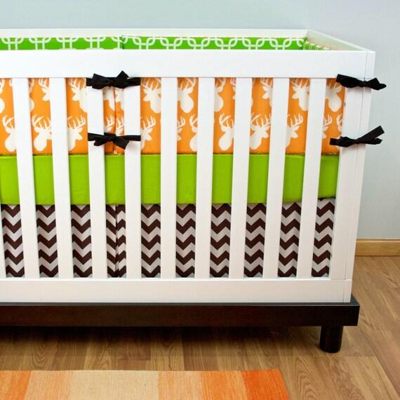 Deer Crib Bedding For Boys : Deer crib bedding boy woodland nursery buck by