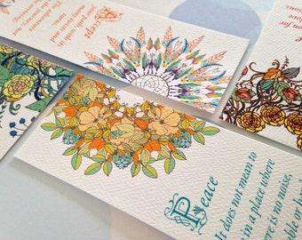 Bookmarks, Inspirational Bookmarks,Set of 8