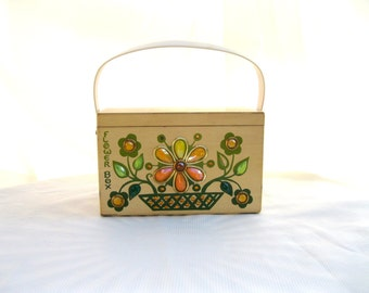 vintage box bag.original enid collins.womens purse.texas.60's.handbag.designer.jewels.from tessiemay