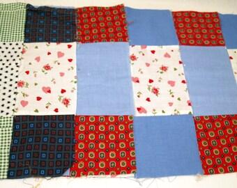 Lot of twelve square quilt blocks