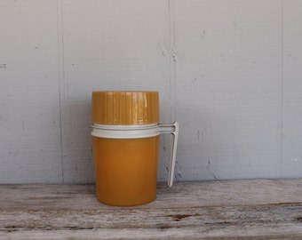 Vintage Thermos, in Goldenrod