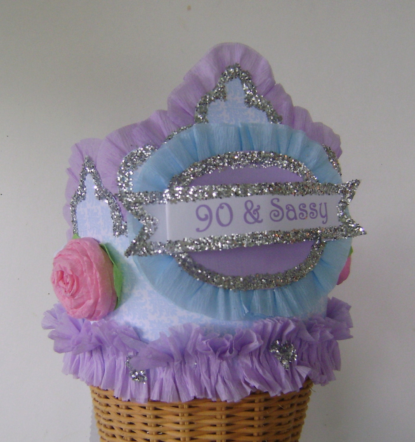 90th Birthday Party Hat 90th Birthday Party Crown Adult