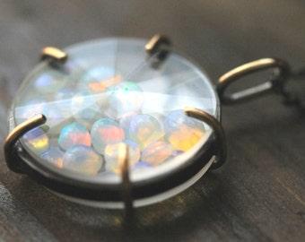 Personalized Necklace, Custom Gold & Silver Keepsake Gem Shaker Necklace- Send Me Your Keepsakes or Gemstones, N001