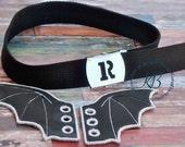 Black Personalized Belt, Military Style Child Cotton Belt, Skater Boy, Girl, School Belt, Initial Buckle, Bat Shoe Wings, Converse Shoe