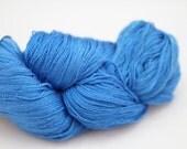 Silk Lace- 100% Silk  - Cerulean