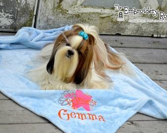 Princess Dog Blanket - Custom Embroidered