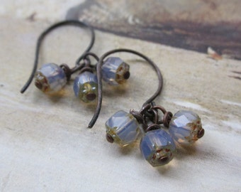 lavender picasso dangles - the kenza earrings