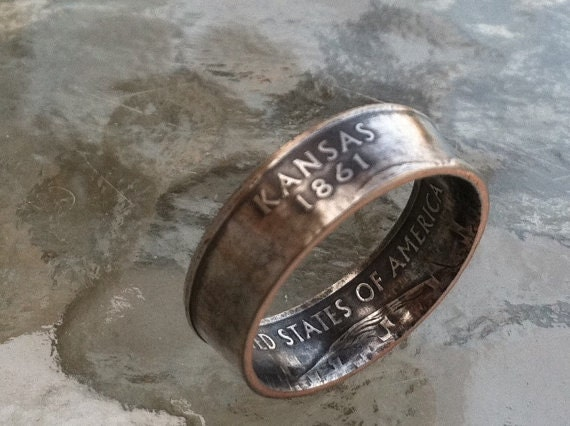 kansas coin rings from etsy