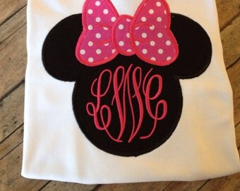 Mouse Girl With monogram