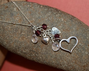 Hearts and Gemstones Necklace