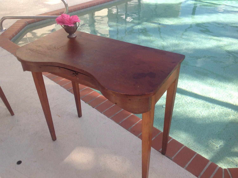 Vintage Skirt Vanity Table Wooden Desk Shabby Chic Cottage
