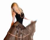 Upcycled gypsy style skirt