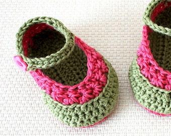 PDF file- CROCHET Pattern - Baby Booties Daisy Crochet Stitch ( 0-6 /6- 12 months)