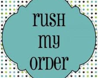 Rush Order Listing - 48 hour turnaround time