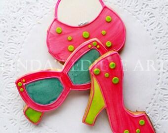 Sassy Pink Shoe Cookies 1 Dozen (12)
