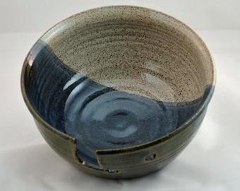 Yarn Bowl in Blue, knitting, knitting needles, crochet, craft bowl, winter hats, winter mittens, crocheting, knitting bowl
