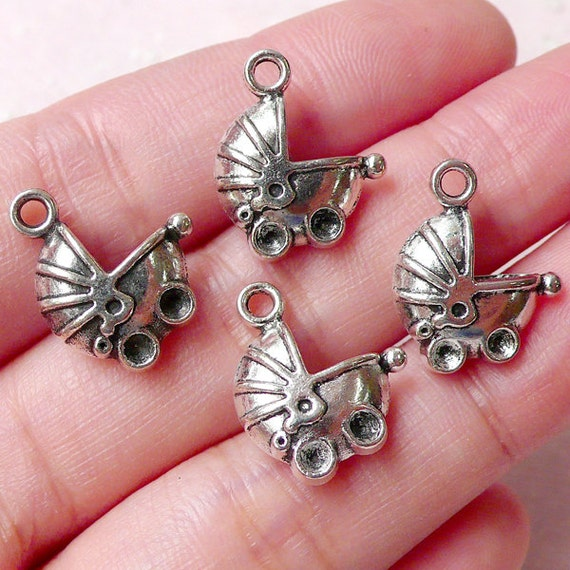 baby pram charms baby stroller charm baby by miniaturesweet