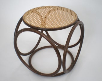 Vintage Bentwood and Cane Stool