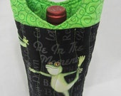 Yoga Frogs Wine Bag Wine Gift Unique Gourmet Hostess Gift