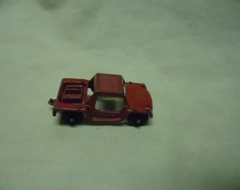 Vintage Tootsietoy Metal Run About Red Toy Car, collectable, USA