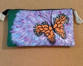 Butterfly-Hand Painted Clutch