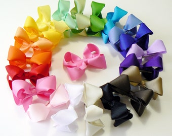 Little Girls Hair Bow Set  Small Toddler Childrens Kids Boutique  Fashion Hair Clip Hairbows Hair Accessories (Set of 20) Choose Colors