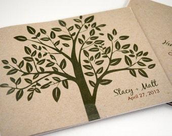 Rustic Wedding Invitation, Green Tree Wedding Invitation, Send N Seal Invitation, Eco Wedding, Outdoor Wedding Invitation, Rustic Wedding