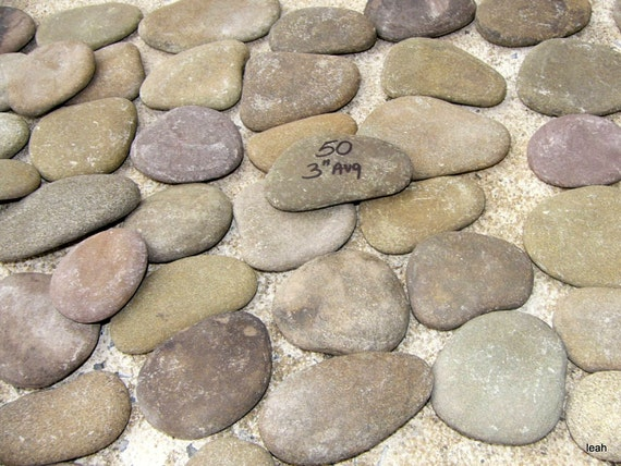 50 flat river rocks painting crafts home decor rock lot 36b for Where to buy flat rocks for crafts