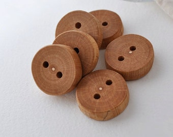 wood buttons •  set of 6 ash tree branch buttons • tree branch buttons