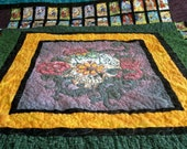 Full  Size Quilt Custom Order Featuring  Large Day of The Dead Skull