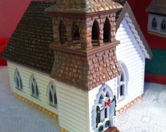 Vintage Hallmark Sarah, Plain and Tall The Country Church Ornament Decoration