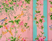Jennifer Paganelli Flower Power Elizabeth Rose Candy Pink Fabric Very rare hard to find oop one fat quarter