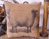 Primitive Sheep Pillow - Primitive Ornie - Primitive Bowl Filler