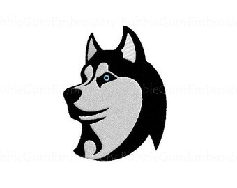 Husky Dog Embroidery Design Instant Download