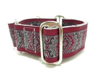 """Houndstown 1.5"""" Orveo Charcoal Martingale Collar Size Small, Medium, or Large"""
