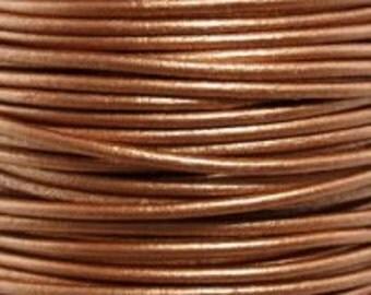 1.5mm Leather Cord - Bronze metallic 10 yard Premium Quality Round Cording