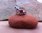 Five Planets Multiple Stone Stack Ring