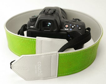 Neon Green '76 Vintage Vinyl Camera Strap - 35 Year Old Neon Vinyl