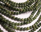 Jade  - 5.5 mm round beads -1 full strand - 73 beads - A Quality