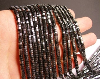 Hematite - Hexagon faceted disc beads - 4.5mm -  full strand - 194 beads - AA quality - CHG9