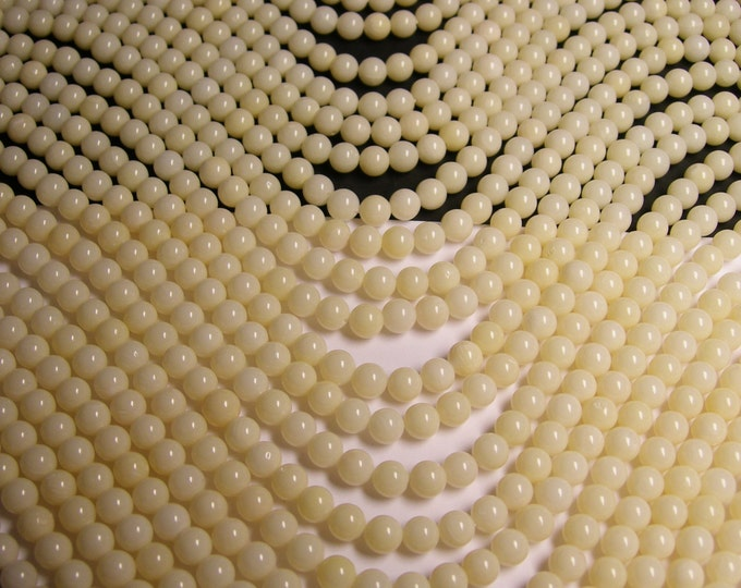 White Coral 6mm ( 5.6mm) round bead 1 full strand - A quality 72 beads - CBG1