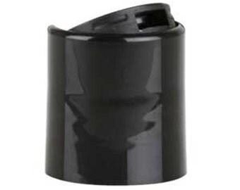 12 Black Push Top Lids - 20/410