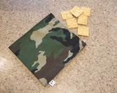 camouflage fabric reusable snack bag