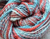 Hand Spun multi colored Falkland Wool 75 yards