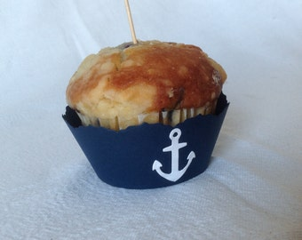 Nautical Themed Cupcake Liners - Set of 12