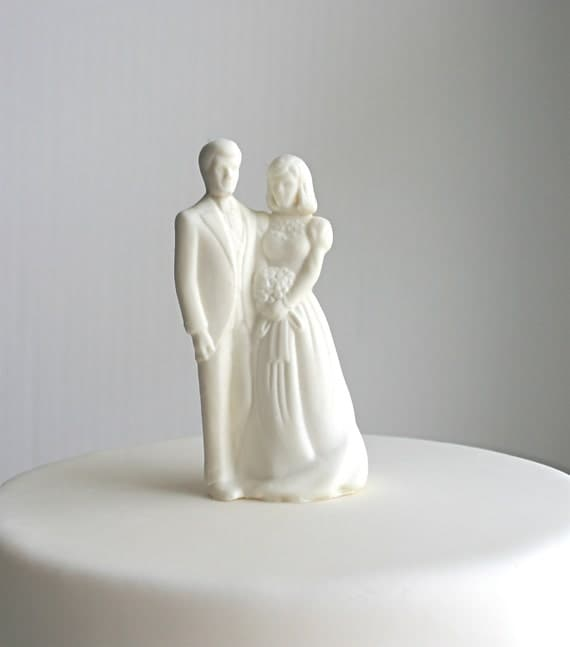 items similar to sugar bride and groom wedding cake topper completely edible traditional nostalgic vintage style on etsy